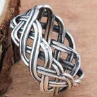 Infinity Intertwined Cross Celtic Knot Ring Engagement Wedding Band