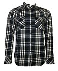 "Diesel Men's Long Sleeve Shirt "" East-Long "" Blue/White Checked New"