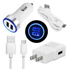 For Moto G7 Power G6 Plus LG Stylo 5 4 V30 G8 Fast Car Wall Charger Type C Cable