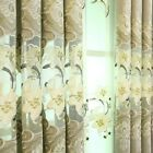 Chenille Window Curtain Panel European Sheer Tulle Embroidered Drape Eyelet Chic