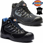 Mens Ladies DICKIES Safety Boots Leather Steel Toe Cap Work Ankle Hiking Shoes
