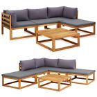 Garden Lounge Set With Cushions Solid Acacia Wood Sofa Coffee Table Furniture