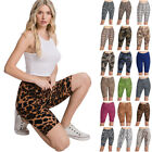 Women's Print Active Pants Yoga Leggings Biker Shorts Pants (S~3XL)