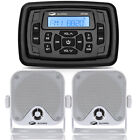 Marine Bluetooth Stereo Sound Receiver Waterproof IP66 FM AM Radio for ATV UTV