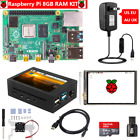 "Raspberry Pi 4 B 8GB RAM Kit with 3.5"" Touch Screen  Metal Case  Power HDMI"
