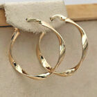 Vintage Gold Silver Dangle Hoop Earrings For Women Engagement Jewelry A Pair Au