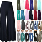 Women's Wide Leg Yoga Stretchy Pants Palazzo Summer Elastic High Waist Trousers