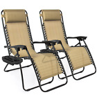 Best Choice Products Set of 2 Adjustable Zero Gravity Lounge Chair Recliners for
