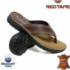 Mens Leather Toe Post Sandals Beach Shoes Cushioned Walking Summer Flip Flops