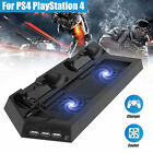 Vertical stand Dual Dock Charging Station Cooling Fan for PS4 Pro/ Slim Console