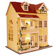 MAGQOO 3D Wooden DIY Miniature Dollhouse Kit DIY House Kit with Furniture 3D Box