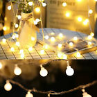 Battery Powered 50LED String Light Garden Path Yard Decor Lamp Outdoor WarmWhite