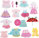 Huang Cheng Toys 12 Pcs Set Handmade Lovely Baby Doll Clothes Dress Outfits Cost