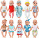 ZITA ELEMENT 10 Sets 14 - 16 Inch Baby Doll Clothes Dress Swimsuits Jumpsuits He
