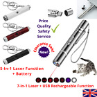 5/7-In-1 Cat Laser Play Toy + USB Rechargeable Func LED UV Pointer for Exercise