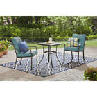 3 Pieces Outdoor Bistro Set Table Chairs Garden Backyard Patio Dining Furniture