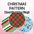"""Christmas Patterned HTV 19.66"""" ROLL **FREE SHIPPING**"""