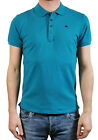 """Diesel Men's Stretch Polo Shirt """" T-Heal """" Turquoise New"""