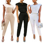 Women Sleeveless Solid Color Casual Sports Home Wear Comfortable Summer Outfits