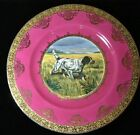 STW Bavaria Gilt Cabinet Plates: Pointers & English Setter Hunting Dogs