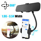 360° Car Rear View Mirror Mount Phone Holder Stand Universal for iPhone Samsung