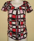 Goddess Maternity Block Print Blouse NWT