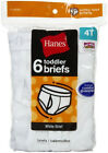 HANES Boy Underwear Toddler Boys Briefs 6 Pk White Kids