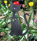 Cat Heart Garden Stake / Garden Decor / Garden Art / Outdoor / Cat metal art