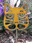 Cat Head Plant Stake / Garden Decor / Garden Art / Yard Art / Plant Art / Metal