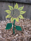 Sunflower Plant Stake / Garden Decor / Garden Art / Metal / Flower / Yard Art