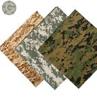 Bandana 3 Pack Desert Digital Camouflage 100% Cotton 22 x 22