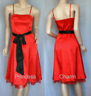 New Cocktail Evening Dress Red Black Size 8 10 12
