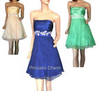 Blue Green Yellow Prom Cocktail Dress Strapless AU Size 8 10 12 14 New