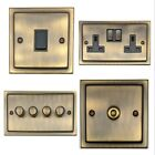 G&H Trimline Plate Antique Bronze Light Switches & Dimmers & Sockets