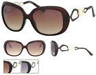 New Fashion Sunglasses Colour Loop Design Dark Gradient tint Black Amber BNWT