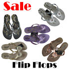 Girls Flip Flops Sandals On Sale  Size 30 to 35 Euro Black Silver Purple Gold Cr