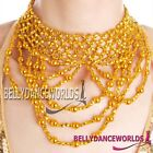 BELLY DANCE DANCING CHOKER NECKLACE COSTUME JEWELRY BOLLYWOOD PROPS GOLD/SILVER