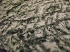 Super Luxury Faux Fur Fabric Material - MICRO IVORY & BLACK MIX