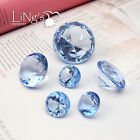 Crystal Blue Diamond Confetti Wedding Party Favor Paperweight Scatter Decoration