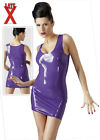 Latex Purple Mini Dress