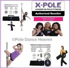 ★The X-Pole Dance Range - Chrome, Titanium Gold or Brass in 50mm, 45mm & 40mm ★