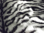 Animal Fun Faux Fur Fabric Material - SILVER GREY/WHITE TIGER
