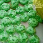 Green Chrysanthe​mum 13mm Plastic Buttons Sewing Scrapbooking Craft JFB10