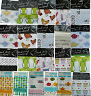 BRAND NEW PACK OF 2 LARGE NATURAL COTTON PRINTED TEA TOWELS/ GLOVES/ APRON