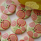 Iris Flower 30mm Wood Buttons Sewing Scarpbooking Craft D002