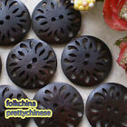 Brown Antique Totem 2 Hole 30mm Wood Buttons Sewing Scrapbooking Craft C002