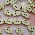 Rabbit 17mm Wood Buttons Sewing Scrapbooking Craft NCB023