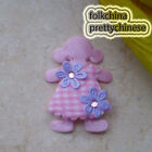 Pink Cute Doll Floral Appliques Padded Craft Sewing Scrapbooking Trim APQP