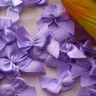 Lilac Satin 20mm Bows Satin Ribbons 10mm Appliques Scrapbooking Cardmaking