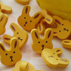 Yellow Rabit Face Wood Buttons 15mm Sewing Craft Scrapbooking CWB006